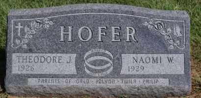 HOFER, NAOMI W - Hutchinson County, South Dakota   NAOMI W HOFER - South Dakota Gravestone Photos
