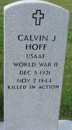 HOFF, CALVIN J. - Hutchinson County, South Dakota | CALVIN J. HOFF - South Dakota Gravestone Photos