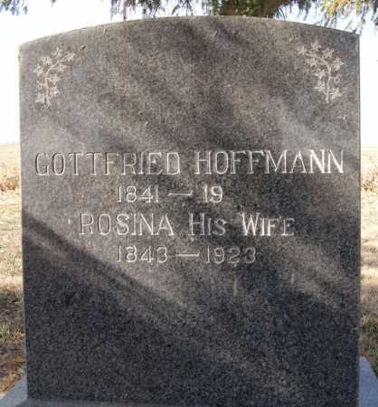 HOFFMANN, GOTTFRIED - Hutchinson County, South Dakota | GOTTFRIED HOFFMANN - South Dakota Gravestone Photos