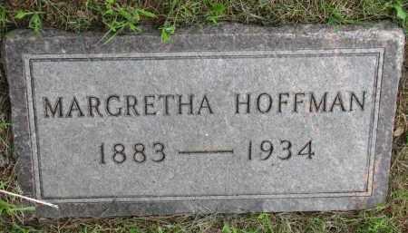 HOFFMANN, MARGRETHA - Hutchinson County, South Dakota | MARGRETHA HOFFMANN - South Dakota Gravestone Photos
