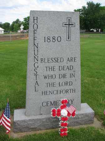 *HOFFNUNGSTAL, HISTORICAL MARKER - Hutchinson County, South Dakota | HISTORICAL MARKER *HOFFNUNGSTAL - South Dakota Gravestone Photos
