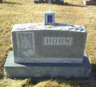 HOHN, FRANCES - Hutchinson County, South Dakota | FRANCES HOHN - South Dakota Gravestone Photos