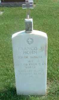 HOHN, FRANCIS J. - Hutchinson County, South Dakota   FRANCIS J. HOHN - South Dakota Gravestone Photos