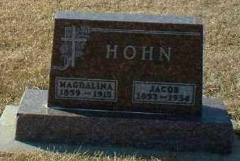 HOHN, MAGDALINA - Hutchinson County, South Dakota | MAGDALINA HOHN - South Dakota Gravestone Photos