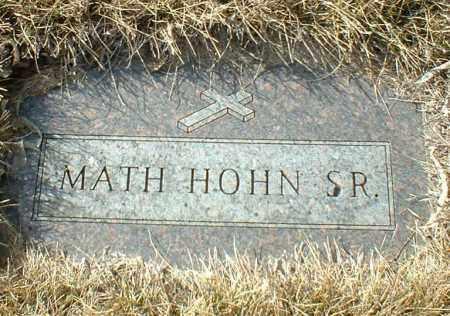 HOHN, MATH SR. - Hutchinson County, South Dakota   MATH SR. HOHN - South Dakota Gravestone Photos