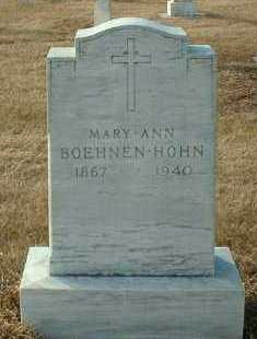 BOEHNEN HOHN, MARY - Hutchinson County, South Dakota | MARY BOEHNEN HOHN - South Dakota Gravestone Photos