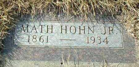 HOHN, MATH JR. - Hutchinson County, South Dakota | MATH JR. HOHN - South Dakota Gravestone Photos