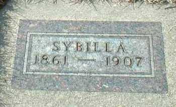 HOHN, SYBILLA - Hutchinson County, South Dakota | SYBILLA HOHN - South Dakota Gravestone Photos