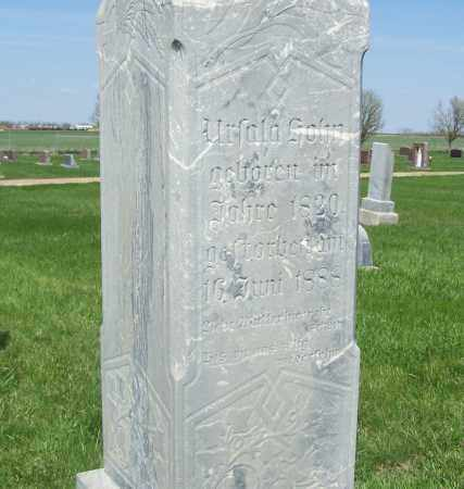 HAMBLOCH HOHN, URSULA - Hutchinson County, South Dakota | URSULA HAMBLOCH HOHN - South Dakota Gravestone Photos
