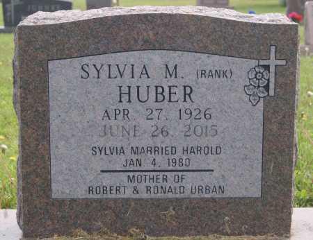 RANK HUBER, SYLVIA M - Hutchinson County, South Dakota | SYLVIA M RANK HUBER - South Dakota Gravestone Photos