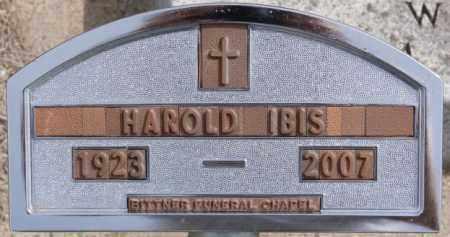 IBIS, HAROLD - Hutchinson County, South Dakota | HAROLD IBIS - South Dakota Gravestone Photos