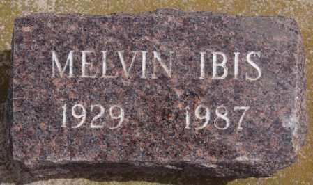 IBIS, MELVIN - Hutchinson County, South Dakota   MELVIN IBIS - South Dakota Gravestone Photos