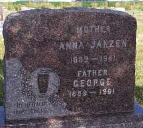 JANZEN, ANNA - Hutchinson County, South Dakota | ANNA JANZEN - South Dakota Gravestone Photos