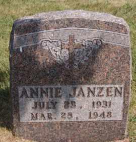 JANZEN, ANNIE - Hutchinson County, South Dakota | ANNIE JANZEN - South Dakota Gravestone Photos