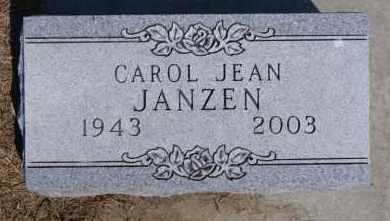 JANZEN, CAROL JEAN - Hutchinson County, South Dakota | CAROL JEAN JANZEN - South Dakota Gravestone Photos