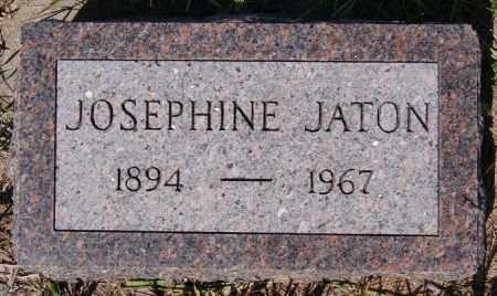 JATON, JOSEPHINE - Hutchinson County, South Dakota   JOSEPHINE JATON - South Dakota Gravestone Photos