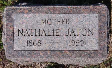 JATON, NATHALIE - Hutchinson County, South Dakota   NATHALIE JATON - South Dakota Gravestone Photos