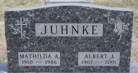 JUHNKE, MATHILDA A - Hutchinson County, South Dakota | MATHILDA A JUHNKE - South Dakota Gravestone Photos