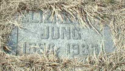 JUNG, ELIZABETH - Hutchinson County, South Dakota | ELIZABETH JUNG - South Dakota Gravestone Photos