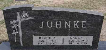 JUHNKE, NANCY L - Hutchinson County, South Dakota | NANCY L JUHNKE - South Dakota Gravestone Photos
