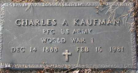 KAUFMAN, CHARLES A. (WW I) - Hutchinson County, South Dakota | CHARLES A. (WW I) KAUFMAN - South Dakota Gravestone Photos