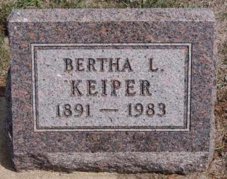 KEIPER, BERTHA L - Hutchinson County, South Dakota | BERTHA L KEIPER - South Dakota Gravestone Photos