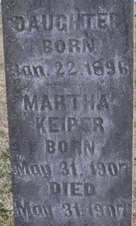 KEIPER, MARTHA - Hutchinson County, South Dakota | MARTHA KEIPER - South Dakota Gravestone Photos