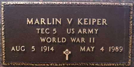 KEIPER, MARLIN V (WWII) - Hutchinson County, South Dakota | MARLIN V (WWII) KEIPER - South Dakota Gravestone Photos