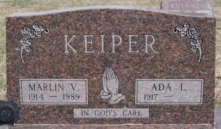 KEIPER, MARLIN V - Hutchinson County, South Dakota | MARLIN V KEIPER - South Dakota Gravestone Photos