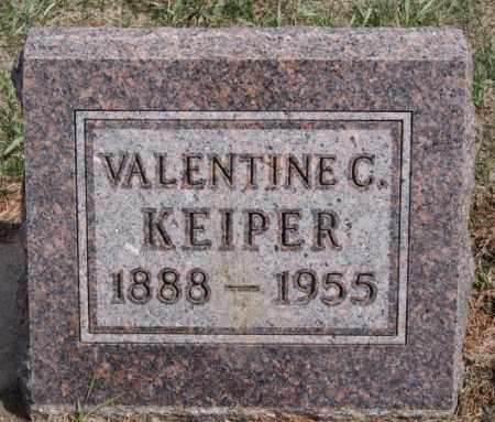 KEIPER, VALENTINE C - Hutchinson County, South Dakota | VALENTINE C KEIPER - South Dakota Gravestone Photos