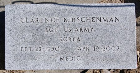 KIRSCHENMAN, CLARENCE (KOREA) - Hutchinson County, South Dakota | CLARENCE (KOREA) KIRSCHENMAN - South Dakota Gravestone Photos