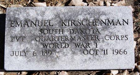 KIRSCHENMAN, EMANUEL (WWI) - Hutchinson County, South Dakota | EMANUEL (WWI) KIRSCHENMAN - South Dakota Gravestone Photos