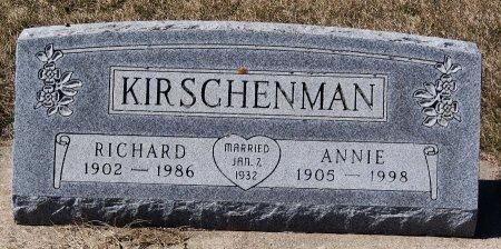 KIRSCHENMAN, RICHARD - Hutchinson County, South Dakota | RICHARD KIRSCHENMAN - South Dakota Gravestone Photos