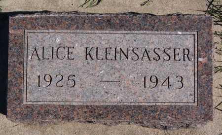 KLEINSASSER, ALICE - Hutchinson County, South Dakota | ALICE KLEINSASSER - South Dakota Gravestone Photos