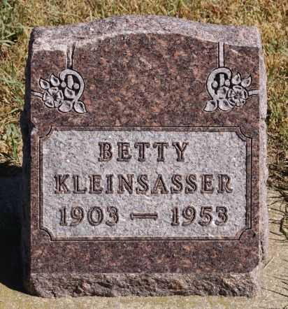 KLEINSASSER, BETTY - Hutchinson County, South Dakota | BETTY KLEINSASSER - South Dakota Gravestone Photos