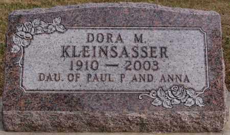 KLEINSASSER, DORA M - Hutchinson County, South Dakota | DORA M KLEINSASSER - South Dakota Gravestone Photos