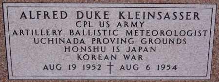 KLEINSASSER, ALFRED DUKE (KOREA) - Hutchinson County, South Dakota   ALFRED DUKE (KOREA) KLEINSASSER - South Dakota Gravestone Photos