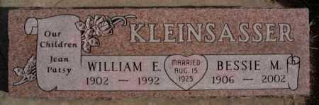 KLEINSASSER, WILLIAM E - Hutchinson County, South Dakota | WILLIAM E KLEINSASSER - South Dakota Gravestone Photos