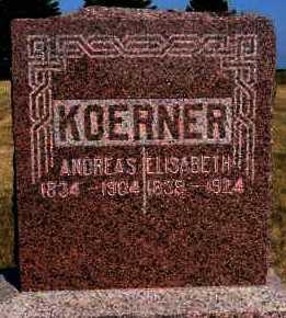 KOERNER, ANDREAS - Hutchinson County, South Dakota | ANDREAS KOERNER - South Dakota Gravestone Photos