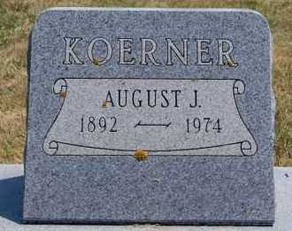KOERNER, AUGUST J - Hutchinson County, South Dakota | AUGUST J KOERNER - South Dakota Gravestone Photos
