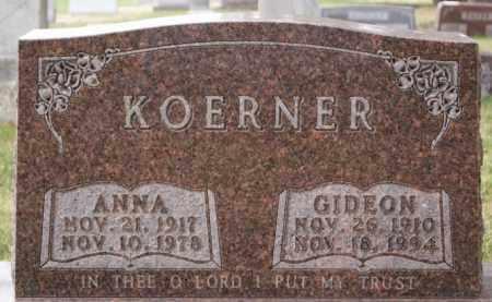 KOERNER, ANNA - Hutchinson County, South Dakota | ANNA KOERNER - South Dakota Gravestone Photos