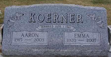 KOERNER, EMMA - Hutchinson County, South Dakota | EMMA KOERNER - South Dakota Gravestone Photos