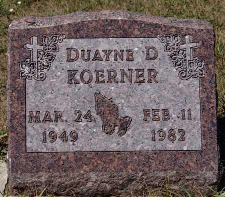 KOERNER, DUAYNE D - Hutchinson County, South Dakota | DUAYNE D KOERNER - South Dakota Gravestone Photos