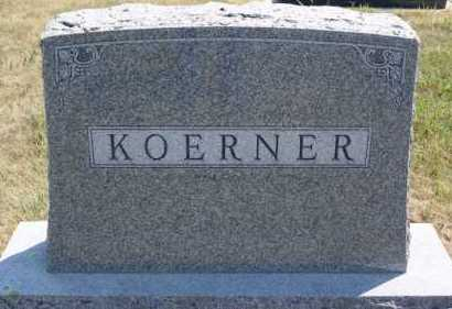 KOERNER, FAMILY MARKER - Hutchinson County, South Dakota   FAMILY MARKER KOERNER - South Dakota Gravestone Photos