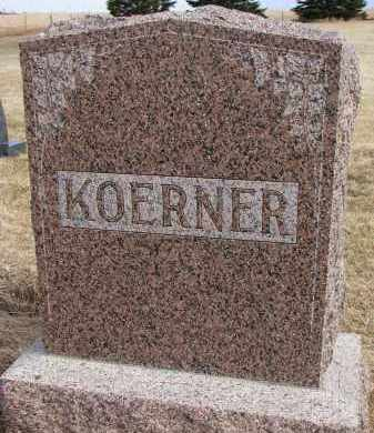 KOERNER, FAMILY MARKER - Hutchinson County, South Dakota | FAMILY MARKER KOERNER - South Dakota Gravestone Photos