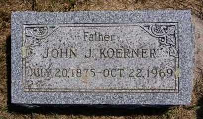 KOERNER, JOHN J - Hutchinson County, South Dakota   JOHN J KOERNER - South Dakota Gravestone Photos