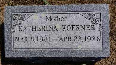 KOERNER, KATHERINA - Hutchinson County, South Dakota   KATHERINA KOERNER - South Dakota Gravestone Photos