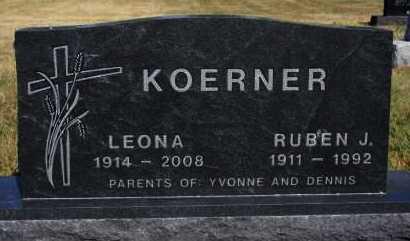 KOERNER, RUBEN J - Hutchinson County, South Dakota | RUBEN J KOERNER - South Dakota Gravestone Photos