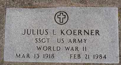 KOERNER, JULIUS L (WWII) - Hutchinson County, South Dakota   JULIUS L (WWII) KOERNER - South Dakota Gravestone Photos