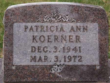 KOERNER, PATRICIA ANN - Hutchinson County, South Dakota   PATRICIA ANN KOERNER - South Dakota Gravestone Photos